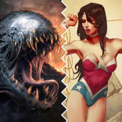 Combining Venom and Wonder Woman into Wonder Venom.