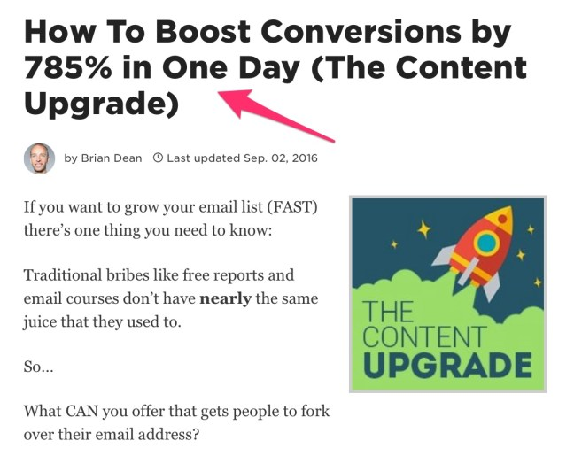 How To Boost Conversions by 785 in One Day The Content Upgrade