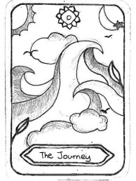 "The Journey, by Chia-Yu, Tsai Inspired by 'The Fool' ""The Journey is like surf, follow the wave, and make your own story!!"""
