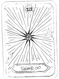 "SHINE ∞, by IGOR STANGLICZKY Inspired by 'The Sun' ""SHINE THRU; SHINE ON; SHINE YOUR OWN DELIGHTFUL ENERGY AND MAKE YOUR WAY THRU ANY SITUATIONS YOUR LIFE PATH MAY CONFRONT YOU WITH. SHINE INDEFINITE."""
