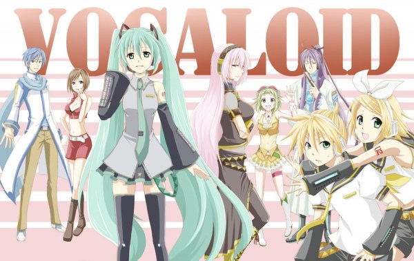 The eight most popular Japanese Vocaloids