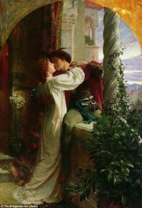 """Romeo and Juliet"", 1884, oil on canvas painting by Frank Bernard Dicksee"