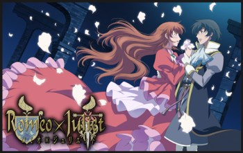 The star-crossed lovers as they appear in the anime adaptation, Romeo x Juliet