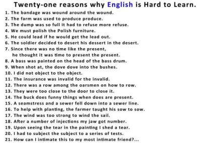Why English is Hard