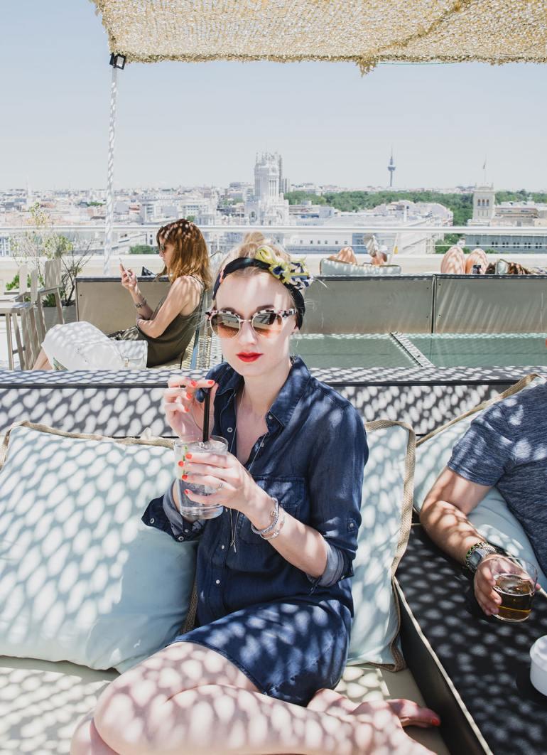 Relaxed One Day Itinerary for Madrid - Circulo de Bellas Artes rooftop bar