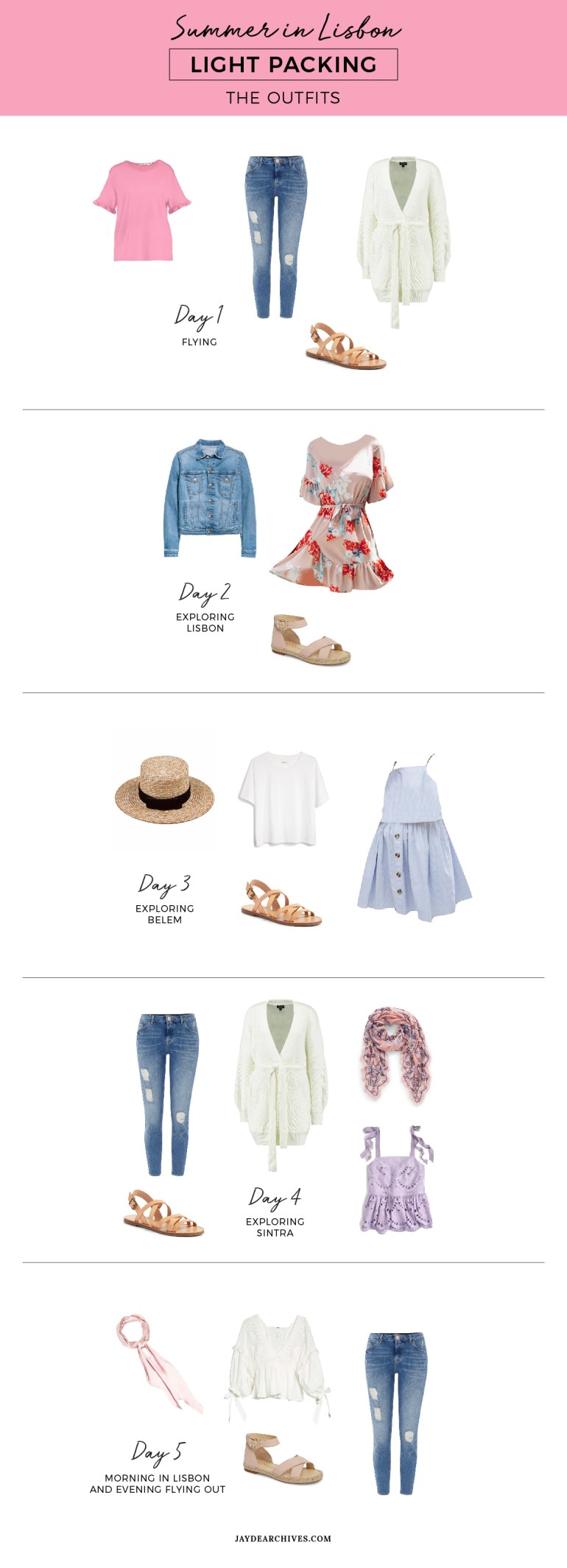 Summer Light Packing for Lisbon Outfits