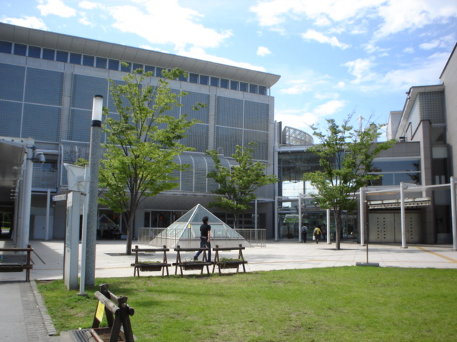 Persimmon Hall is a modern glass building.
