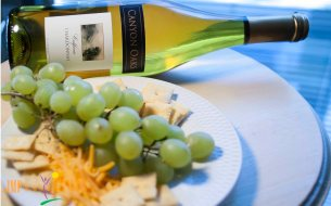Wine, Grapes, Cheese and Crackers