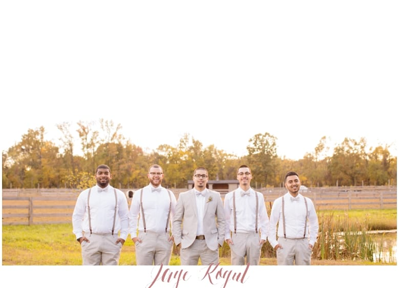 Groomsmen with suspenders