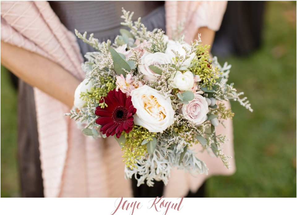 blossom and basket wedding flowers, winter wedding bouquets