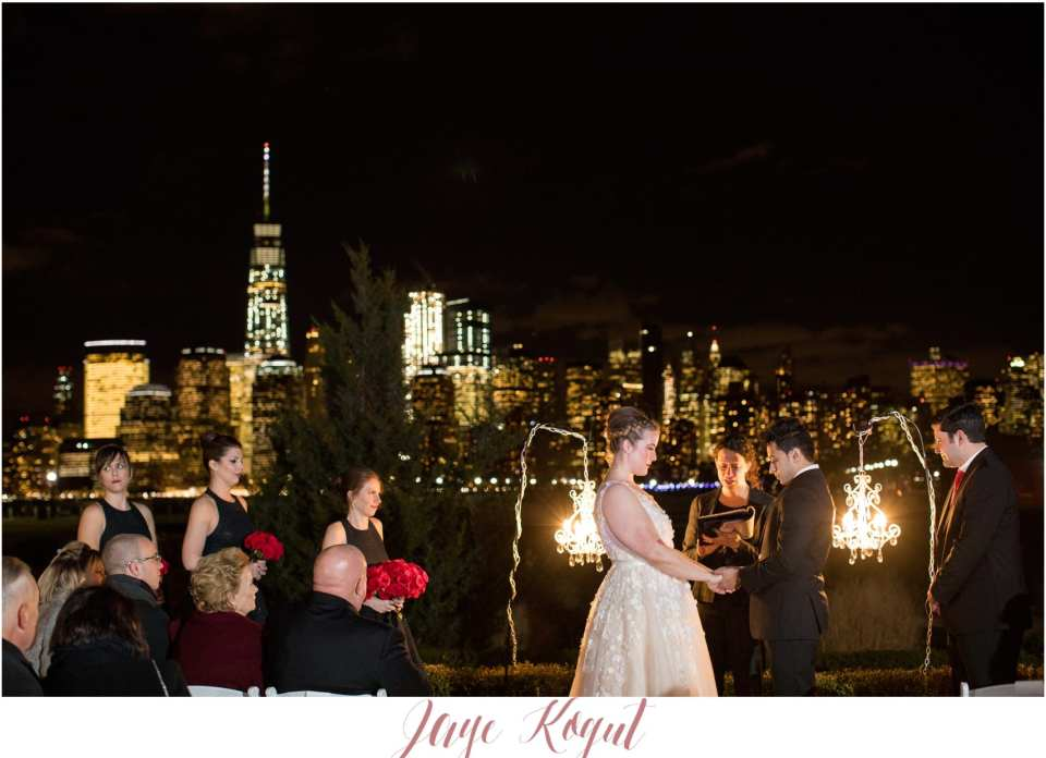 new york skyline wedding ceremony, Liberty House