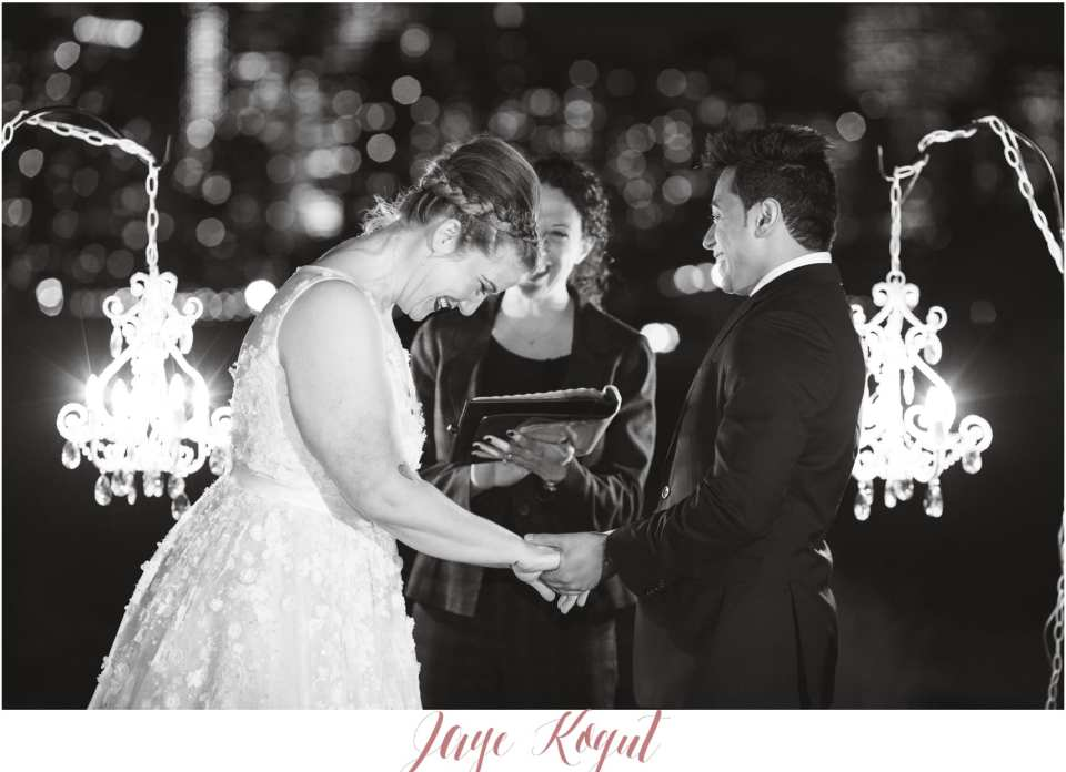 new york skyline wedding ceremony