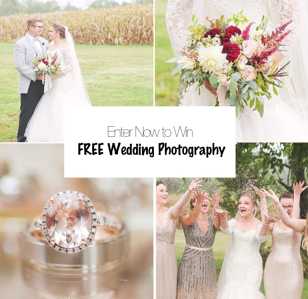 Enter now to Win FREE Wedding Photography! by Jaye Kogut Photography