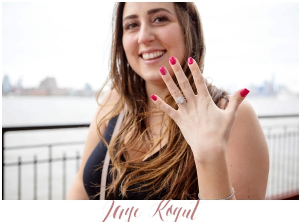 NYC skyline proposal, Chart House restaurant engagement photos, Jersey city wedding photography