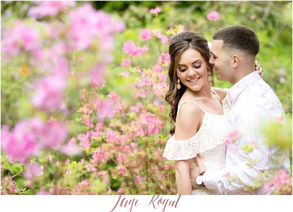 garden engagement photos, francesca's spring dress line