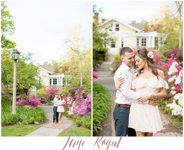 Sayen Garden Engagement Photos, Cute spring engagement outfit ideas