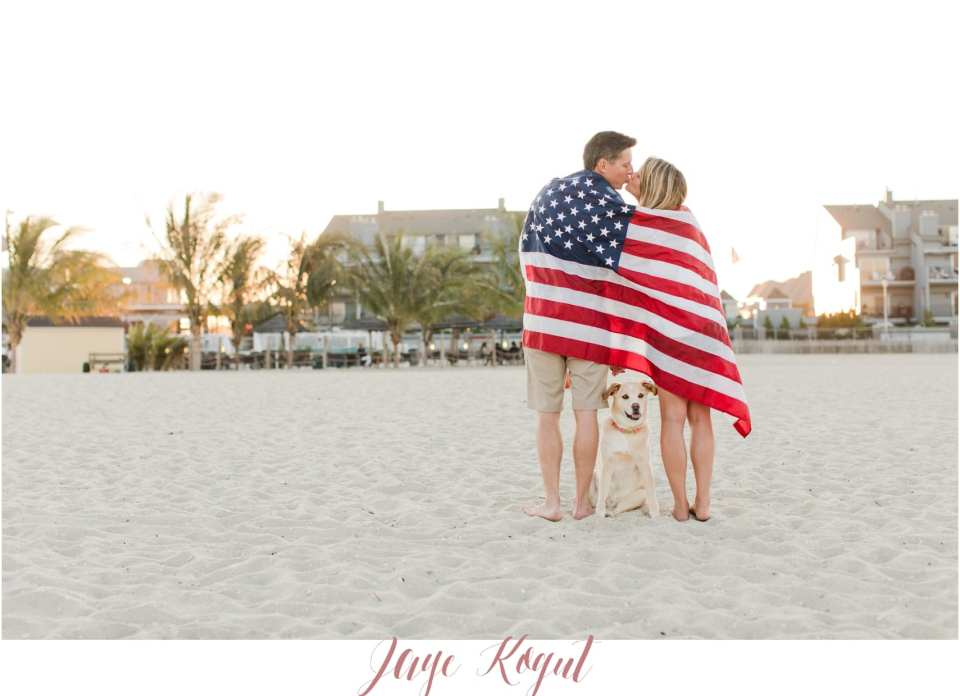 point pleasant engagement photo ideas, A patriotic proposal, Fourth of July engagement photos, nj wedding photographers