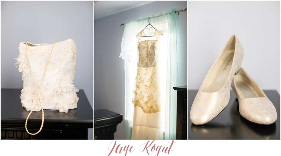 gold wedding dress details, ieie bridal gowns
