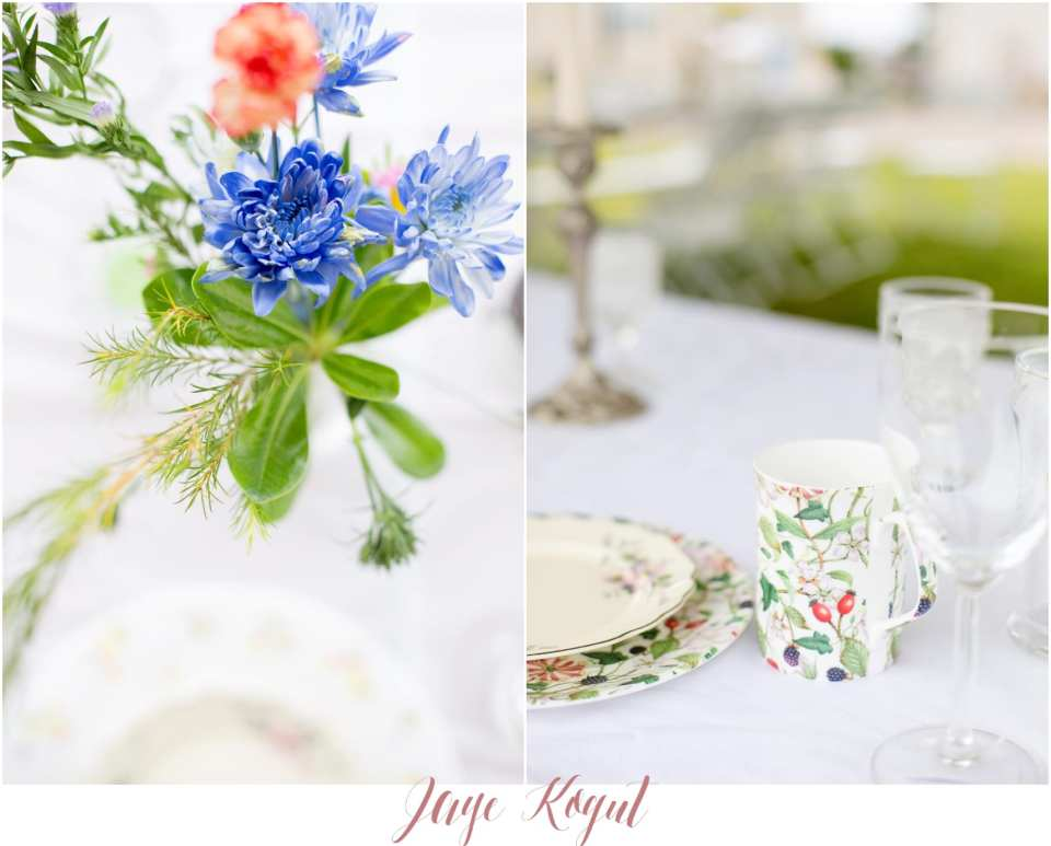 mismatched china for wedding days