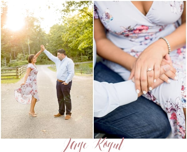 how to dress for your engagement session, allaire state park engagement photos