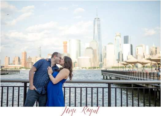 Jersey city engagement photos, NYC skyline engagement photos