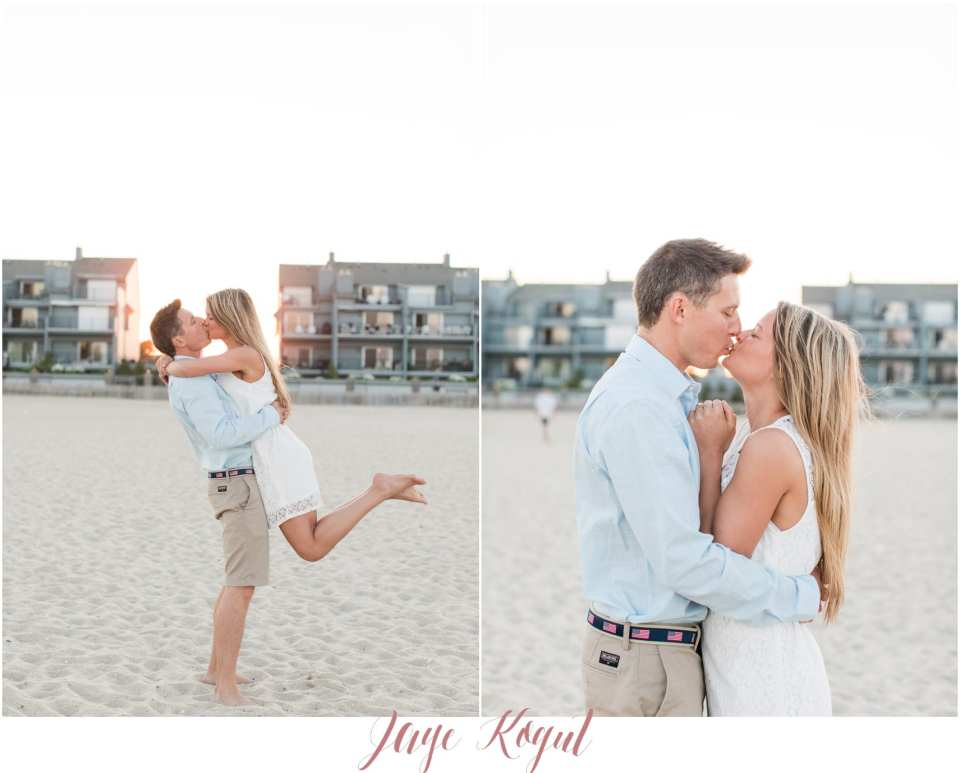 impressions boutique dress, engagement session outfit ideas, point pleasant engagement photos, beach photos in New Jersey