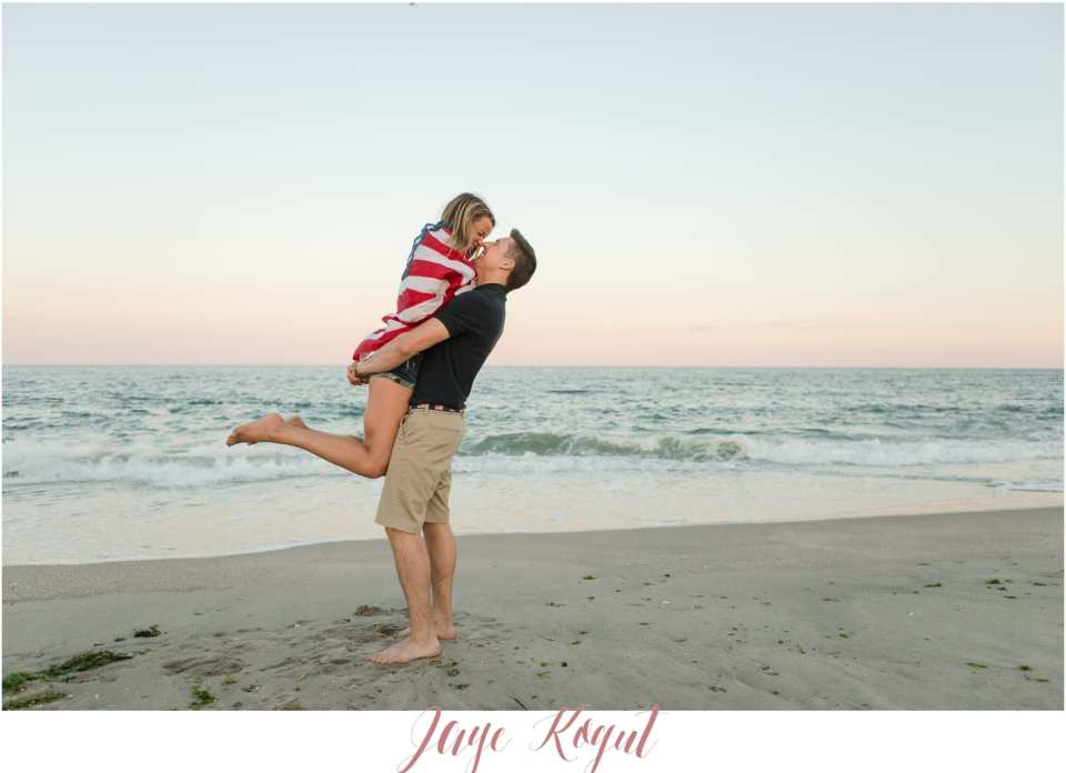 dramatic engagement posing, engagement photo ideas, beach engagement photos in NJ