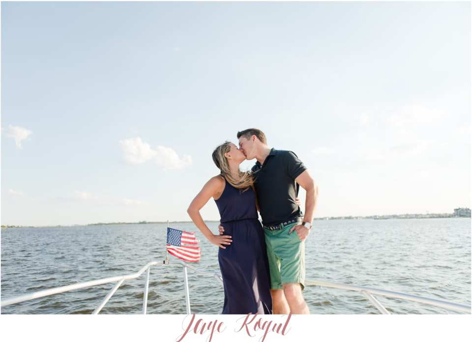 engagement photos on a boat, New Jersey engagement photos, NJ wedding photographers