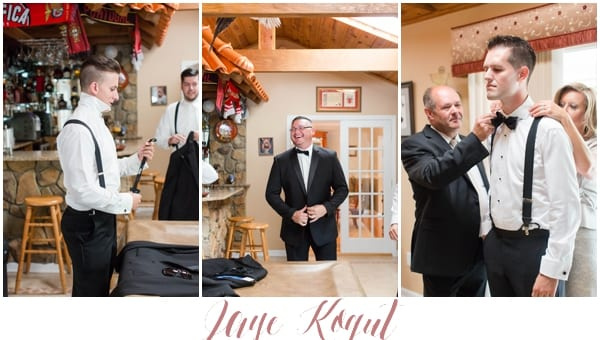 Portugese wedding in New Jersey, groomsmen getting ready