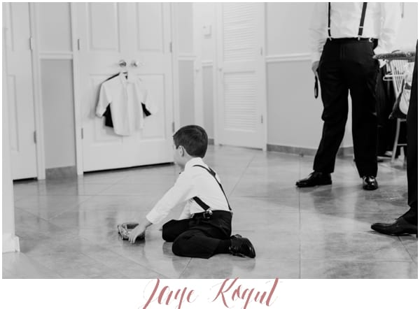 candid ring bearer photos at weddings, black and white wedding photo