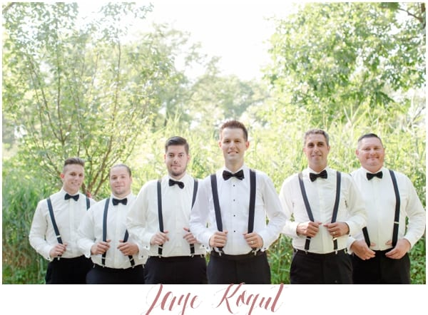 groomsmen wearing suspenders, groomsmen and their suspenders photo