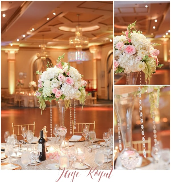 NJ wedding photographers, high end wedding centerpieces