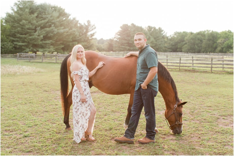 New Jersey horse farm engagement photos
