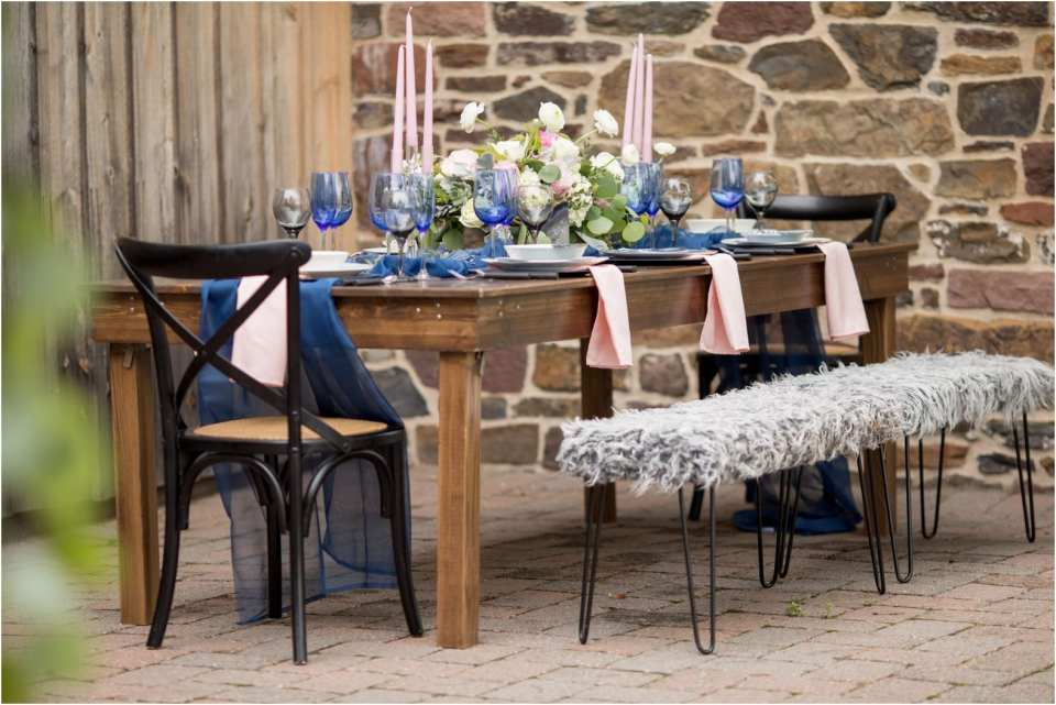blue and pink wedding color ideas, rustic and pink weddings