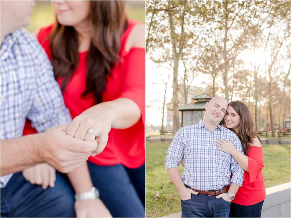 hoboken engagement photos, urban engagements