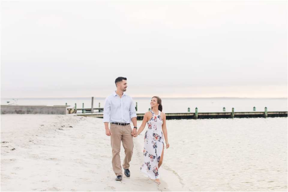 Jersey shore engagement photos, late summer engagement photos in New Jersey