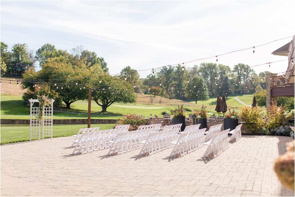 chester valley golf club wedding ceremony
