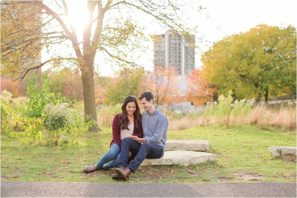 Lincoln park zoo engagement photos