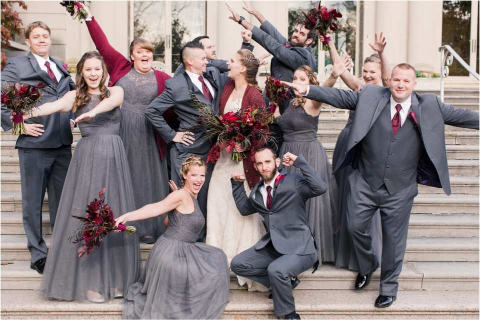 magnolia west events, gray bridal party details