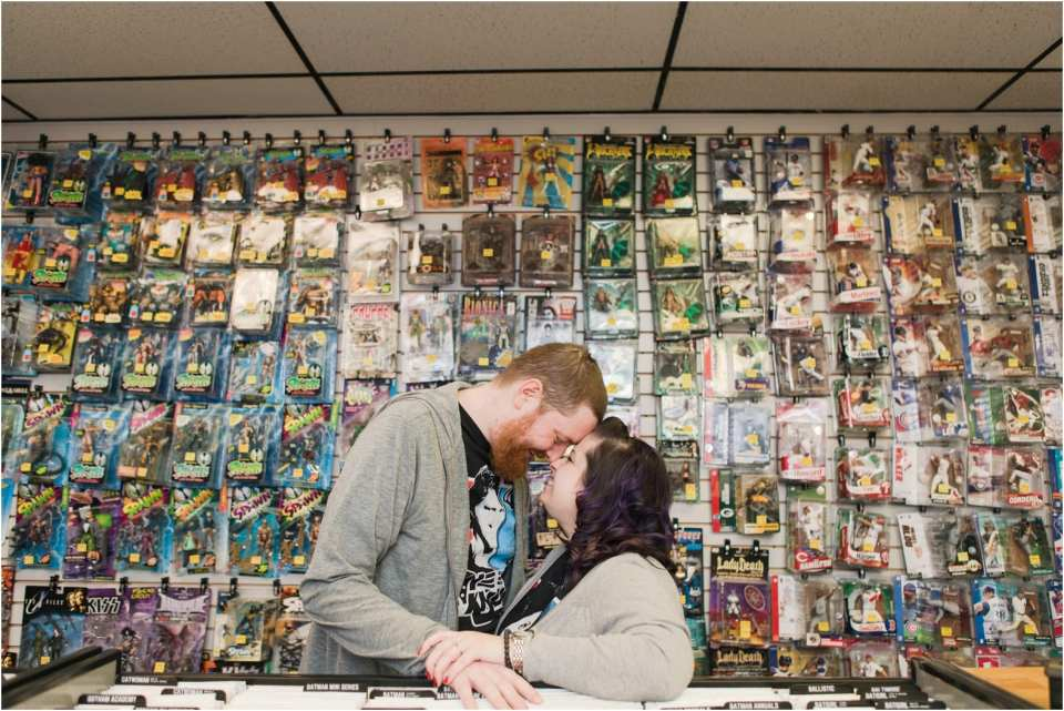 Joker's child comic books, comic book store engagement