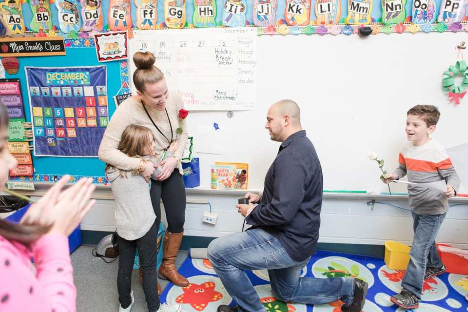 spotswood Teacher proposed to at school, proposals at schools