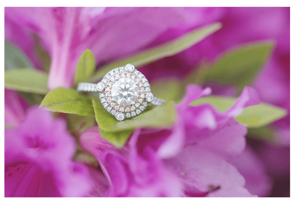 Sayen Gardens Engagement, rose gold engagement rings