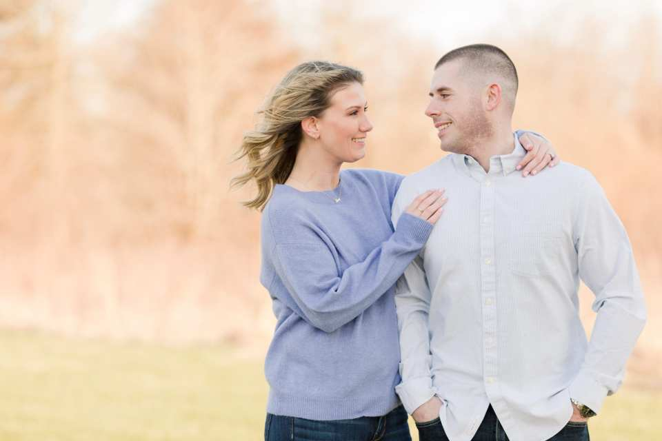 engagement photos in the spring, express engagement outfit