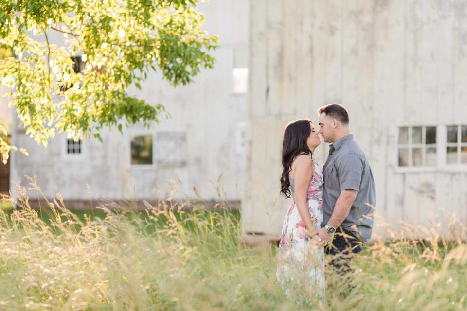 rustic princeton engagement photos