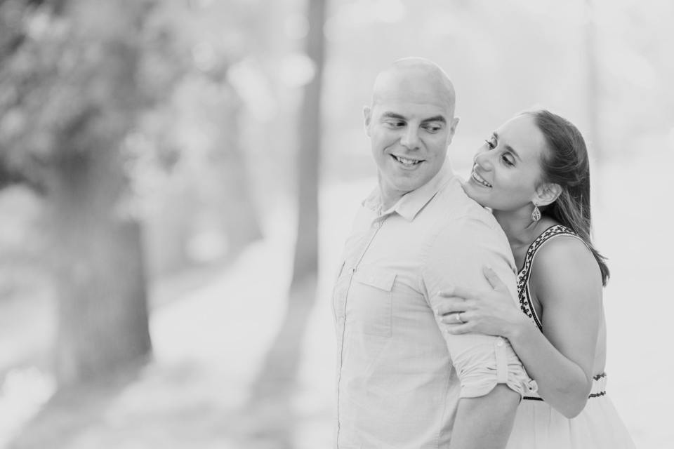 New Jersey engagement photos, black and white engagement photos