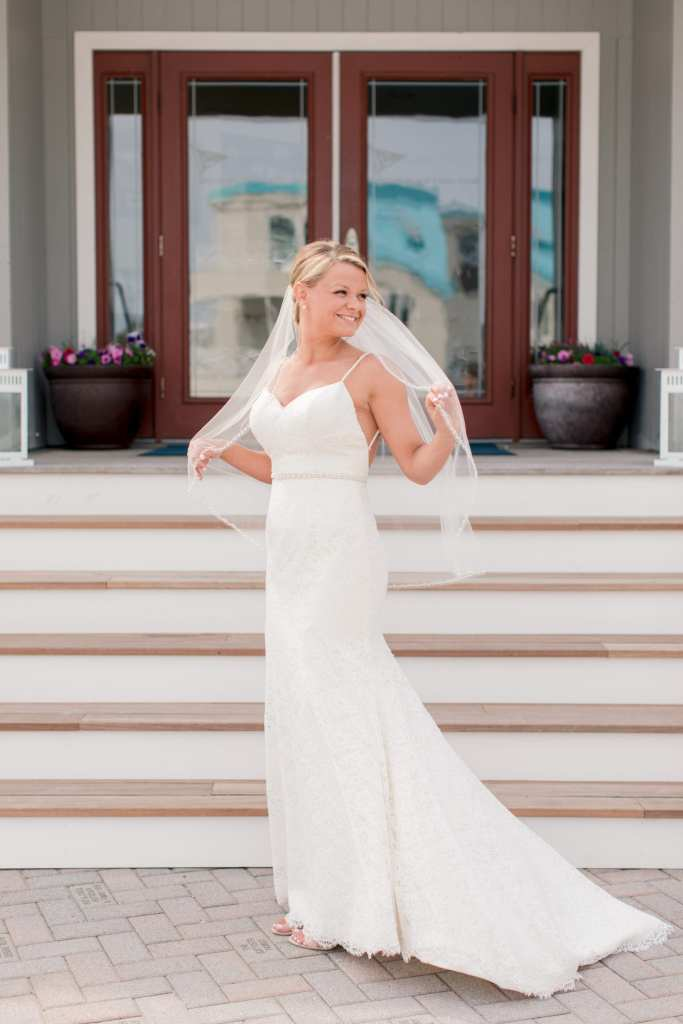 bridal portrait, nautical wedding, NJ wedding photographer, Brant Beach Yacht Club wedding, long beach island wedding