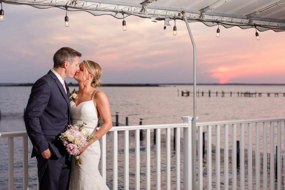long beach island weddings, sunset wedding photos, Brant Beach Yacht Club wedding
