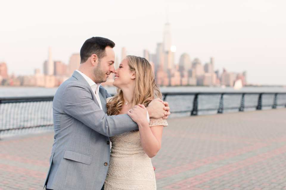 nyc skyline engagement photo, nj wedding photographer