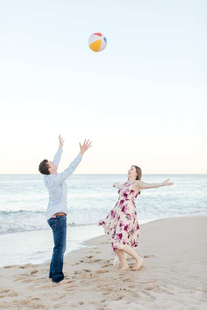 Silly engagement photos, Jersey Shore engagement photos, beach engagement photos, New Jersey wedding photographer