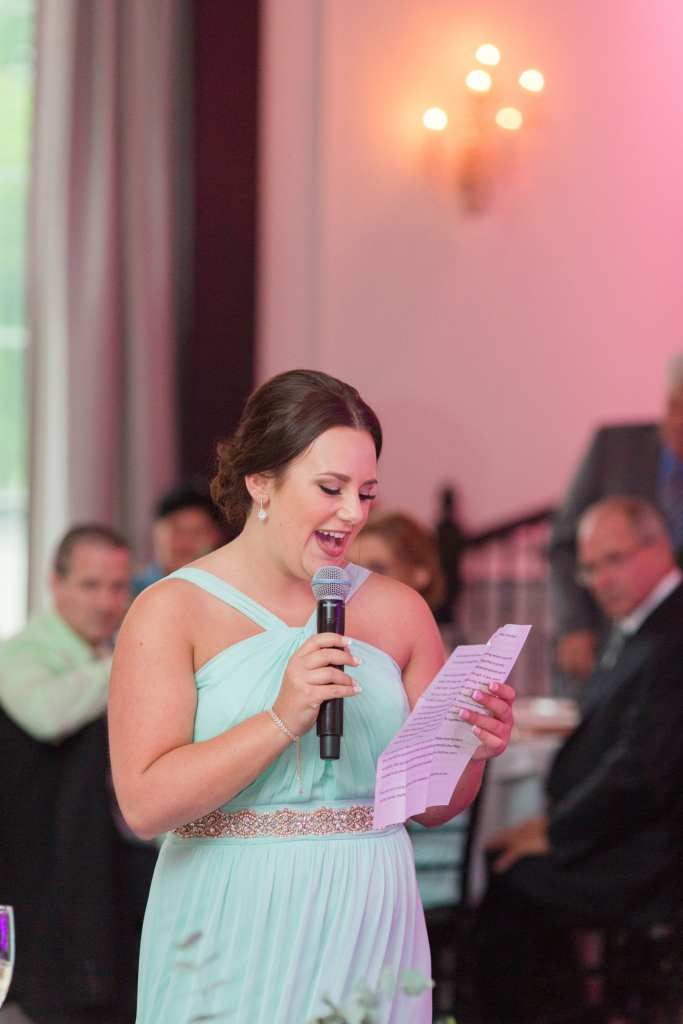 Maid of Honor speech, MOH speech at the Gramercy at Lakeside Manor